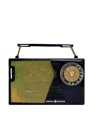 Vintage General Electric Radio, Black, 2.5x7x5