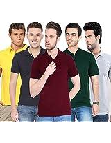 Concepts Men's Casual Shirt (TSHT_C5_BKYWBGMRGY_Multi_44)