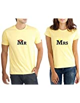 LaCrafters Couple Tshirt - Mr and Mrs Yellow_Small