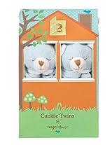 Angel Dear Cuddle Twin Set, Blue Bear (Discontinued by Manufacturer)