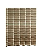 Ex-Cell Glacier Pieced Shower Curtain, 70 by 72-Inch, Neutral Ice