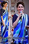336- Madhuri Dixit in blue saree