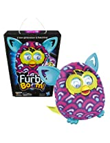 Hasbro Year 2013 Furby Boom Series 5 Inch Tall Electronic App Plush Toy Figure Purple, Pink And White Scale Pattern Furby