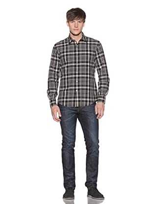 John Varvatos Men's Button-Up Plaid Shirt