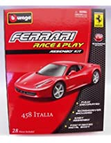Bburago 1:32 Ferrari Race and Play Kit - 458 Italia, Red