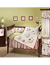 Alexis Garden 7 Piece Baby Crib Bedding Set with Bumper by Nojo