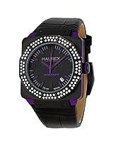Haurex Italy Athenum Black Dial Black Leather Strap Men'S Watch - Hau8E372Dnp