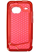 Verizon Red Silicone Case For Htc Incredible Cell Phone