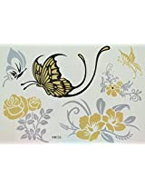 Spestyle Waterproof Tattoos Butterfly And Roses Black And Silver And Golden Glitter Temporary Tattoo Stickers