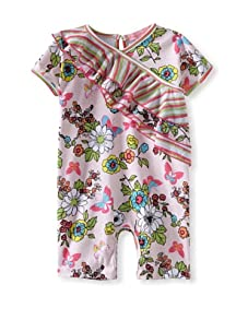 Baby Nay Asymmetrical Ruffle Romper (Madame Butterfly)