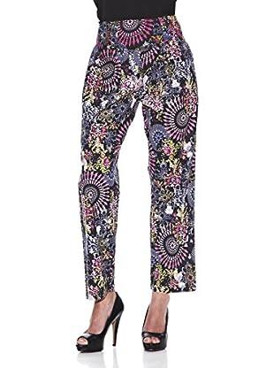 Peace & Love Pantalón Estampado (Multicolor)