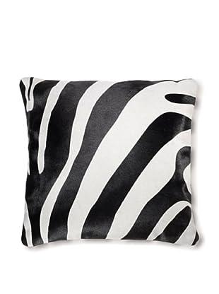 Natural Brand Torino Cowhide Pillow, Zebra Black/White