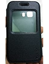 PUDINI BRAND FLIPCASE COVER FOR Samsung Galaxy Young 2 SM-G130[BLACK]