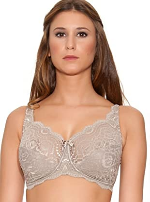 Playtex Reggiseno senza Ferretto Flower Lace (Marrone)