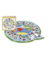 Gibby & Libby Oversized Shaped Jigsaw Puzzle, One World by C.R. Gibson