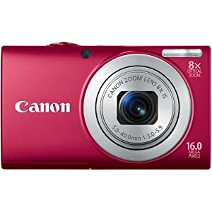 Canon PowerShot A4000 IS Point & Shoot Camera - Red