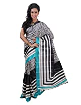 Parichay Women's Silk Saree(Blue & Black)