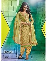 Fabboom New Latest Designer Green State Cut Salwar Suit