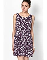 New Look Purple Printed Sleeveless Skater Dress New Look