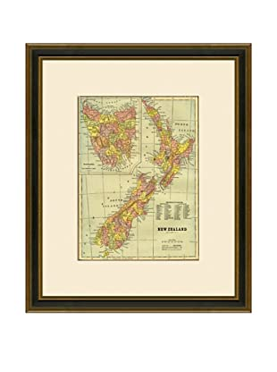 Antique Lithographic Map of New Zealand, 1883-1903
