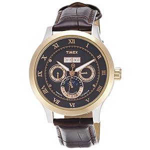 Timex E-Class Analog Black Dial Men's Watch - T2N290
