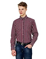 Rigo Red and Navy Check Shirt (Small)