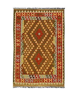 Eden Teppich Kilim-P rot/grün 122 x 186 cm
