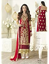 A V Fashion Women Georgette Salwar Suit Set (Karishma5103 _Maroon _Free Size)