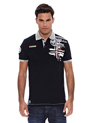 Geographical Norway Polo Manga Corta Karite (Azul Marino)