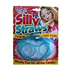 Silly Straw Glass Goggle Shape Drinking Eyeglasses (colors may vary)