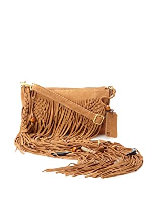 Linea Pelle Women's Bo Cross Body Fringe Clutch (Whiskey)