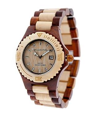 MUSAVENTURA Reloj Wood Mix Marrón