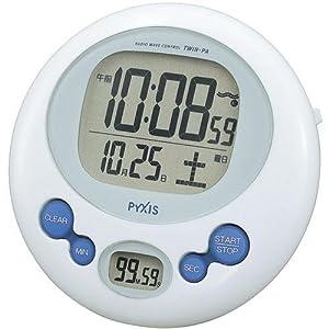 SEIKO CLOCK(セイコークロック) 電波デジタル置掛兼用 キッチン&バスクロック ホワイトNA501W