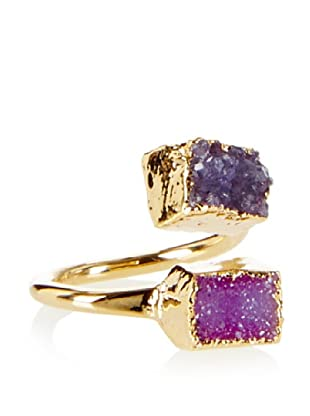Charlene K Fuchsia/Blue Double Druzy Ring