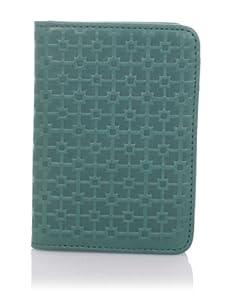 Hlaska Artifacts Women's Embossed Card Wallet (Teal)