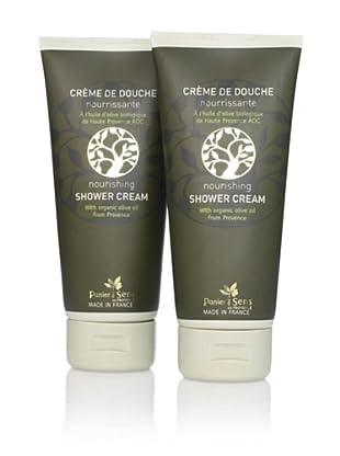 Panier des Sens Organic Olive Oil Shower Cream, 2-Pack