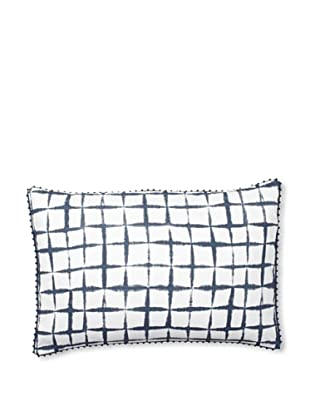Vera Wang Shibori Decorative Pillow, Blue, 15