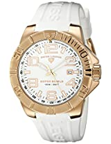 Swiss Legend Watches, Men's Super Shield White Dial Rose Gold Tone IP SS Case White Silicone, Model 40117-RG-02