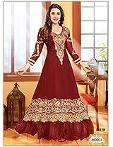 FabFirki Collection Of Karishma Kapoor In Brown Designer Anarkali Suit