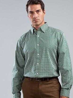 Cortefiel Camisa Cuadros (Verde)
