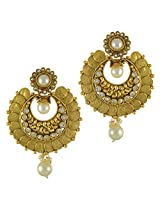Ethnic Indian Bollywood Jewelry Set Traditional Fashion Imitation EarringsCHEA0216WH