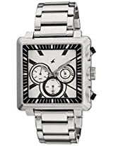 Fastrack Chronograph Silver Dial Men's Watch - 3111SM01