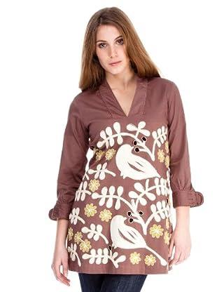 Almatrichi Vestido Abril (marrón)