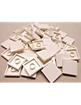 DEAL OF THE DAY!!! DO NOT MISS OUT!x50 NEW Lego Tiles White Smooth Finishing Tile 2x2 2 x 2 MODULAR BUILDINGS