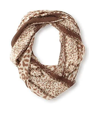 Raj Imports Women's Chain Infinity Scarf (Brown)