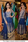 Bollywood Replica Neha Sharma Mono Net Suit In Blue Colour NC712