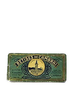Vintage Bestises de Cambrai Tin, Aqua/Cream