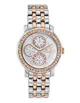 Titan Purple - Glam Gold Analog White Dial Women's Watch - 9743KM01J