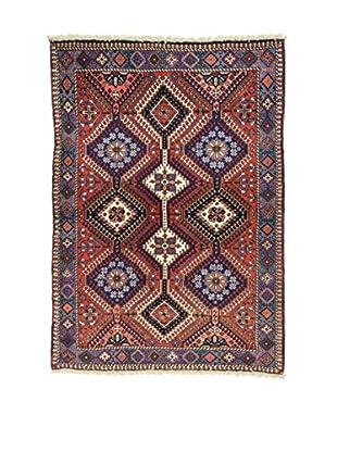 L'Eden del Tappeto Teppich Yalameh .N rot 150t x t106 cm