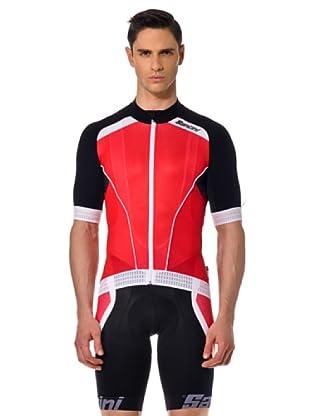 Santini T-Shirt Zip (rot/schwarz)